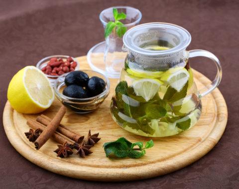 Чай фруктовый имбирный