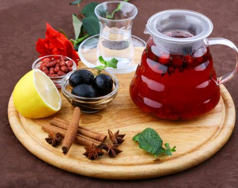 Чай фруктовый клюквенный