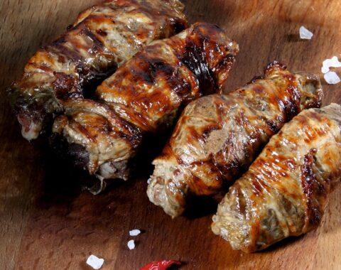 Печень говяжья в сетке